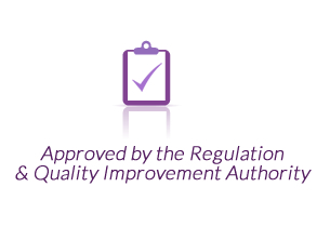 Approved by the Regulation & Quality Improvement Authority.