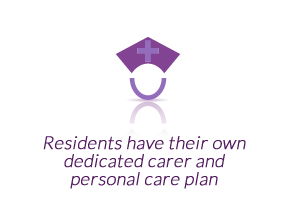 Residents have their own dedicated carer & personal care plan.