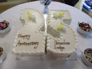 Greenhaw 25 Year Celebration Cake